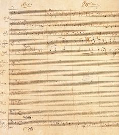 """Requiem"" (original score) { this score is incomplete because Mozart died after he writing the ""Lacrimosa""}"