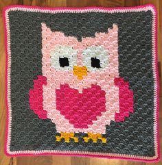 Time to share my first pattern! Well, not exactly a crochet stitch pattern, but I would like to share some pixel graphs that I have worked on. It started with this owl: At first I wasn't even sure what to do with this. Really I just drew up a graph to play around with the c2c stitch. It ended up what I thought was a strange size until I realized it was the perfect size to fit a euro pillow! So that's what it became. A big, cozy floor pillow for my daughter to flop on! This was do...