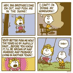 """PEANUTS 在 Twitter:""""The things we do for our siblings.… """""""