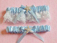A personal favorite from my Etsy shop https://www.etsy.com/listing/253686689/beach-wedding-garter-set-starfish-garter