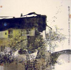 Liu Maoshan(Chinese, b.1942)    ::    Songs of Birds Echos in Jiangnan