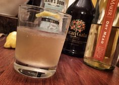 Magnificent Mead Sour | Ingredients 1 oz Gin 1.5 oz Dry Traditional Mead (Maine Mead Works HoneyMaker Dry Mead) Juice of 1/2 a Lemon 1/2 oz Simple Syrup 1/2 oz Gran Gala Liqueur  #meadcocktail