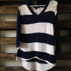 Lauren Conrad sweater Blue and white striped Sweaters