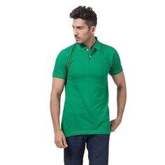 Kelly Green Polycotton Polo Shirt For Men