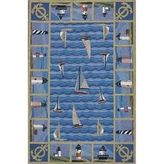100% Wool Lighthouse Rug