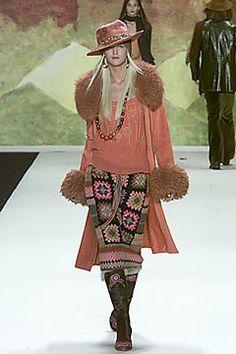 Anna Sui Fall 2000 Ready-to-Wear Fashion Show - Carmen Kass, Anna Sui