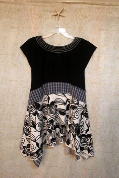 Boho Shirt, Shabby Chic Romantic, Bohemian Junk Gypsy Style, Mori Girl, Lagenlook, Cowgirl Country Girl Chic: