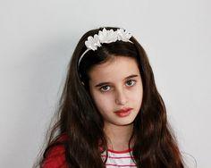 Blush diadema nupcial diadema de niña de las por NoviaBellaTS