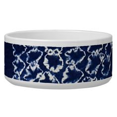 Shibori Dog Bowl
