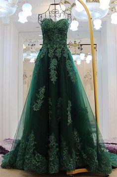 ea3bd9b0cfbe7 27 Best Dark Green Prom Dresses images in 2019 | Dark green prom ...