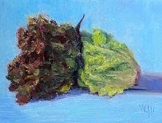 "Beth Winfield on Instagram: """"Lettuce Alone"" 9 x 12 #oil #oilpainting #oilpaintings #stradaeasel #gardening #garden #gardenlife #lettuce #painting #paintings #stilllife…"""