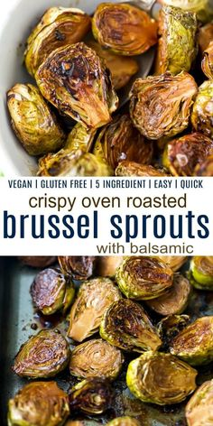 Roasted Brussel Sprouts Balsamic, Vegan Brussel Sprout Recipes, Brussel Sprouts In Oven, Thanksgiving Brussel Sprouts, Vegetarian Roast, Healthy Dishes, Veggie Dishes, Healthy Eats