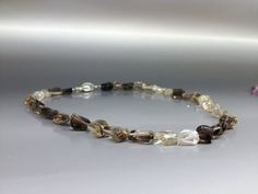 Shaded Smokey Quartz necklace with matching Sterling silver clasp by gemoryprague. Explore more products on http://gemoryprague.etsy.com