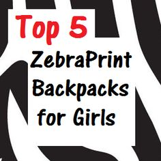 A collection of zebra print backpacks for girls.