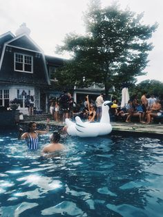 That would be me on the swan at a friend's summer pool party