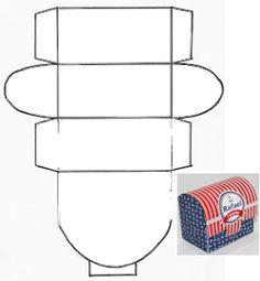 Fábrica de Sonhos: Moldes de Caixinhas Wedding Gift Card Box, Diy Gift Box, Diy Box, Diy And Crafts, Paper Crafts, Baby Frame, Printable Box, Origami Paper Art, Party In A Box