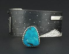 Cuff | Mark Roanhorse Crawford (Navajo).  Sterling silver and turquoise.