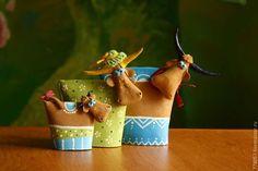 Статуэтки ручной работы. Ярмарка Мастеров - ручная работа. Купить семейка. Handmade. Салатовый, корова, коровы, теленок, семья, трое