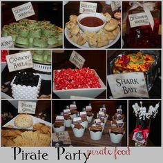 Pirate Party Food Ideas | More Pirate Party Ideas, Recipes, & Fun found: here