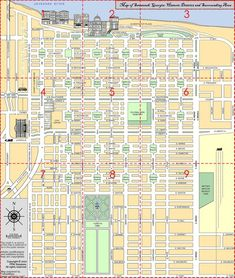 Middle District Of Georgia Map.Walking Map Savannah Historic District Map For Savannah Georgia