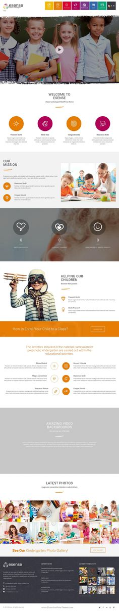Esense is a powerfull and flexible multiconcept WordPress Theme perfect  for corporate site, blog site, eCommerce site, portfolio and many more #website. Demo #Kindergarten #childcare