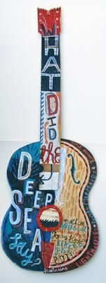 """""""What Did The Deep Sea Say?"""" by Jonny Hannah (painted wood)"""