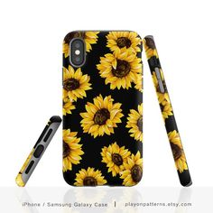 Sunflower iPhone 8 Case Floral iPhone Xs Max Case iPhone X Case Sunflower Pattern iPhone 7 Case iPhone 7 Plus Galaxy Case - Iphone XS - Ideas of Iphone XS for sales. - Sunflower iPhone 8 Case Floral iPhone Xs Max Case iPhone X