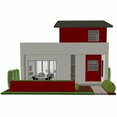 Modern home plan with spacious living area High ceilings and big