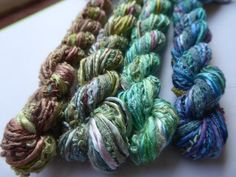 4 skeins of hand dyed silk threads a great mix of colours and Creative Textiles, Dyed Silk, Bakers Twine, Silk Thread, Embroidery Thread, Color Mixing, Card Making, Colours, Etsy