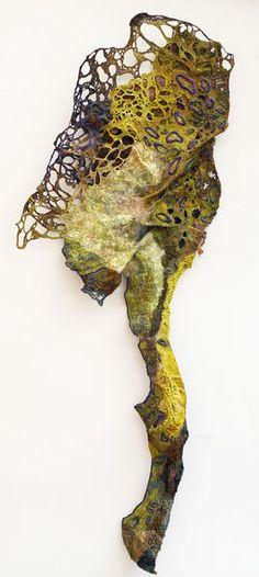 POOL, Susan Hotchkis, felt, silk, velvet, stitch, 48x145