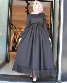 Image may contain 1 person standing Tesettür Ayakkabı Modelleri 2020 Muslim Women Fashion, Modern Hijab Fashion, Islamic Fashion, Abaya Fashion, Fashion Dresses, Dress Outfits, Hijab Mode, Mode Abaya, Hijab Evening Dress
