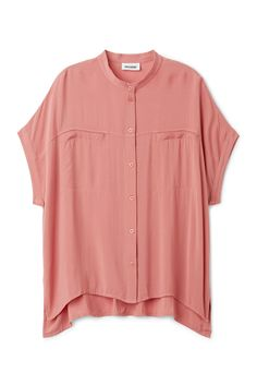 Model front image of Weekday tillie blouse in pink