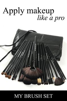 Apply makeup like a pro/The essential makeup brush setThis essential brush set gives you all the tools you need to apply makeup like a pro. All 24 brushes are hand-sculpted and assembled, using only the finest quality materials. These ergonomically designed brushes fit perfectly to your hand to ensure flawless application. Get yours today before they?re gone.