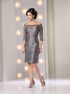 Mother of Bride Knee Length Lace Dresses