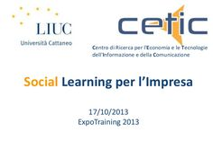 expotraining-2013-cetic-socila-learning by cetic2014 via Slideshare