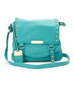 Look at this #zulilyfind! Jessica Simpson Collection Turquoise Encino Flap Crossbody Bag by Jessica Simpson Collection #zulilyfinds