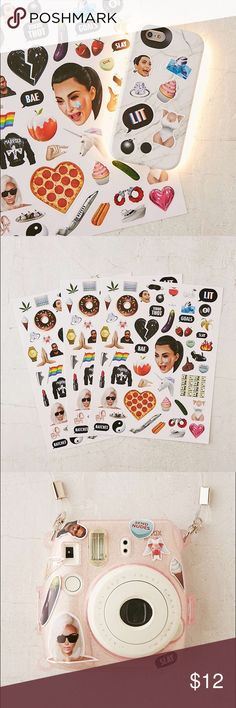 💅Official KIMOJI Stickers UO Exclusive set of KIMOJI stickers, from Kim Kardashian West's KIMOJI merch team! Stick 'em on anything from notebooks to your phone. Makes a great gift for any Kim K fan, too! New in packaging - sold out on Kim's store website. ❗️PRICE FIRM❗️ 👁3 sheets in package (2 packages available) 👁Paper, adhesive 👁Wipe clean Urban Outfitters Accessories