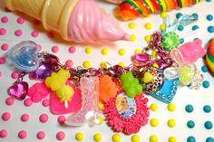 Barbie Gummi Yummy Super Chunky Charms Lolita Kitsch Kawaii Bracelet. $60.00, via Etsy.