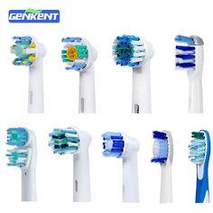 4 UNIDS Reemplazo Floss Acción cepillo de Dientes Higiene Oral B Cruz Precisión Pulsonic Eléctrico Cepillos de Dientes de cerdas suaves