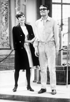 Audrey and Peter O'Toole on the set of 'How To Steal A Million'.