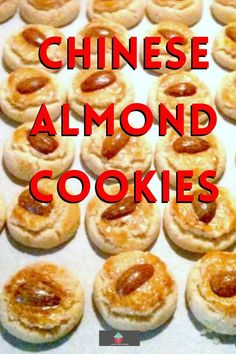 Chinese Almond Cookies are simple little cookies, traditionally made for Chinese New Year. These cookies are soft, fluffy, and crumbly. The shape symbolizes coins and will give you good fortune in the coming new year! Easy recipe and are so addictive, be sure to make plenty!
