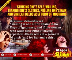 Major Sins in Islam Islamic Prayer, The Messenger, One Hair, Know The Truth, Hadith, Oppression, Quran, Forgiveness, Prayers