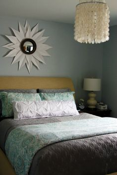 These colors would be perfect in our bedroom.
