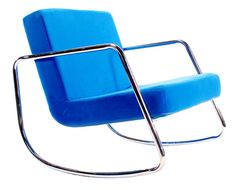 Funky Retro Chrome Rocker (Blue)
