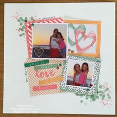 """Scrapbook layout made with the Stampin' Up! Project Life kit """"Good Vibes""""…"""