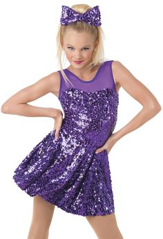 Weissman™ | Sequin Illusion Mesh A-Line Dress