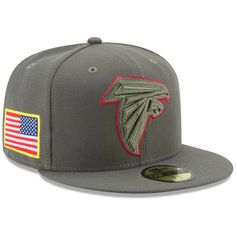 Men's Atlanta Falcons New Era Olive 2017 Salute To Service 59FIFTY Fitted Hat