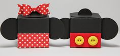Esto y aquello: Mickey y Minnie Cajas Pétalo