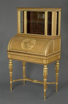 Tahan, « bonheur du jour » desk, purchased by Napoleon III for a gift to the princess Marie-Clotilde, 1859. National Museum of the Chateau of Compiègne. #tahan #compiegne #chateau #furniture #19thcentury Architectural Antiques, Architectural Elements, Table Maker, Napoleon Iii, Albert Museum, Sewing Table, Marquetry, Cabinet Makers, Bonheur