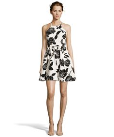 Romeo & Juliet Couture Rose Print Woven Dress With Criss Cross Open Back